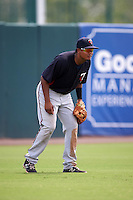 Minnesota Twins Luis Arraez (1) during an instructional league game against the Baltimore Orioles on September 22, 2015 at Ed Smith Stadium in Sarasota, Florida.  (Mike Janes/Four Seam Images)
