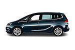 Car Driver side profile view of a 2017 Opel Zafira Innovation 5 Door Mini MPV Side View