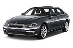 2016 BMW 3 Series Luxury 4 Door Sedan Angular Front stock photos of front three quarter view