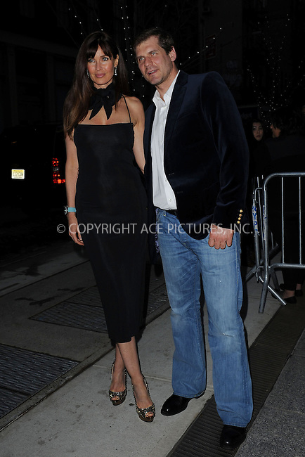 WWW.ACEPIXS.COM . . . . . .April 15, 2013...New York City....Carol Alt and Alexei Yashin attend a screening of 'Pain and Gain' held at Crosby Street Hotel on April 15, 2013  in New York City. ....Please byline: KRISTIN CALLAHAN - WWW.ACEPIXS.COM.. . . . . . ..Ace Pictures, Inc: ..tel: (212) 243 8787 or (646) 769 0430..e-mail: info@acepixs.com..web: http://www.acepixs.com .