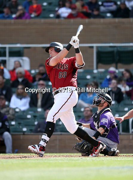 Kevin Cron - Arizona Diamondbacks 2018 spring training (Bill Mitchell)