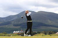 Anna Foster (Elm Park) on the 2nd tee during Round 1 of the Women's Amateur Championship at Royal County Down Golf Club in Newcastle Co. Down on Tuesday 11th June 2019.<br />