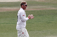 Simon Harmer of Essex celebrates taking the wicket of Scott Borthwick during Essex CCC vs Surrey CCC, Bob Willis Trophy Cricket at The Cloudfm County Ground on 11th August 2020