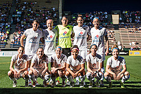 Seattle, WA - Sunday, May 1, 2016: FC Kansas City starting IX for a National Women's Soccer League (NWSL) match at Memorial Stadium.