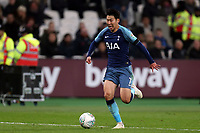 Son Heung-Min of Tottenham Hotspur during West Ham United vs Tottenham Hotspur, Caraboa Cup Football at The London Stadium on 31st October 2018