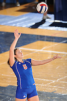 20 November 2008:  South Alabama setter Maria Kashavelova (5) serves during the FIU 3-1 victory over South Alabama in the first round of the Sun Belt Conference Championship tournament at FIU Stadium in Miami, Florida.