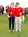 County Louth golf club junior captain Benjamin Doggett and Junior lady Captain Grace Caine pictured at the captain's drive in. Photo: Colin Bell/pressphotos.ie