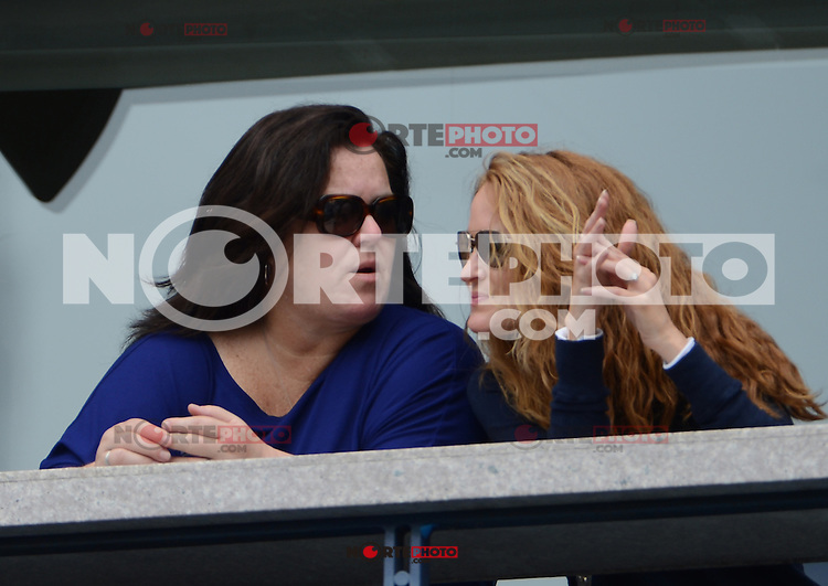FLUSHING NY- SEPTEMBER 2: Rosie O'Donnell and Michelle Rounds are sighted at the  Jokovic Vs Benneteau match on Arthur Ashe stadium at the USTA Billie Jean King National Tennis Center on September 2, 2012 in in Flushing Queens. Credit: mpi04/MediaPunch Inc. ***NO NY NEWSPAPERS*** /NortePhoto.com<br />