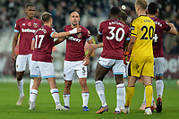 West Ham players At the Final Whistle Applause Fan's during West Ham United vs Burnley, Premier League Football at The London Stadium on 3rd November 2018