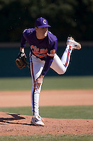 Casey Harman (36) of the Clemson Tigers in action versus the Wake Forest Demon Deacons during the first game of a double header at Gene Hooks Stadium in Winston-Salem, NC, Sunday, March 9, 2008.