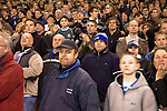 Sheffield United 1 Reading 1, 14/02/2006. Bramall Lane, Championship. Reading fans take in Dave Kitsons missed penalty in injury time. Photo by Paul Thompson.