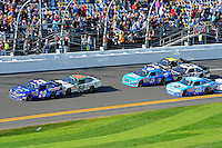 Joey Logano (#20), Trevor Bayne (#60), Ricky Stenhouse, Jr. (#6), Tony Stewart (#33), Kasey Kahne (#38) and James Buescher (#30)