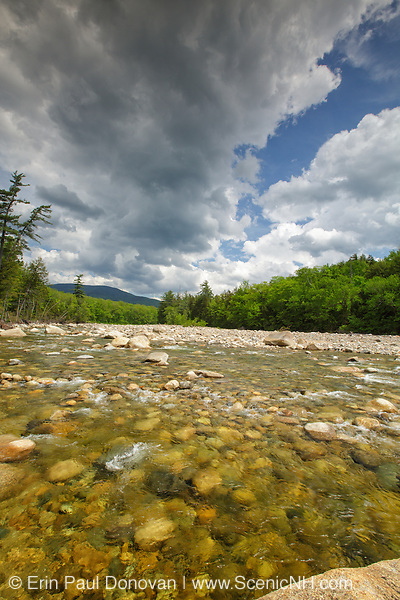 East Branch of the Pemigewasset River in Lincoln, New Hampshire USA during the spring months.