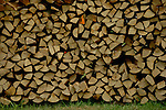 Chopped wood for winter fuel. Bavaria, Germany