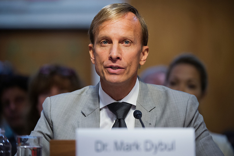 UNITED STATES - MAY 6: Mark Dybul, of the Global Fund to Fight AIDS, Tuberculosis, and Malaria, testifies before a Senate Appropriations State, Foreign Operations and Related Programs Subcommittee hearing in Dirksen Building on global health problems, May 6, 2015.(Photo By Tom Williams/CQ Roll Call)