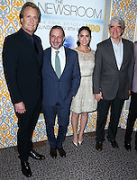 LOS ANGELES, CA, USA - NOVEMBER 04: Jeff Daniels, Alan Poul, Olivia Munn, Sam Waterston arrive at the Los Angeles Season 3 Premiere Of HBO's Series 'The Newsroom' held at the DGA Theatre on November 4, 2014 in Los Angeles, California, United States. (Photo by Xavier Collin/Celebrity Monitor)