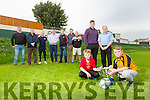 Locals reviving old soccer tournament and raising funds for local charities on the 8th October Pictured Front l-r Darragh Moriarty and Fionn Odaligh, middle Eamonn Fitzmaurice Tim 'TC' Counihan  Back l-r Simon McCarthy, Martin Dennehy, James Sugrue, Eoin Kelliher, Pa Daly, Karl Cheohan, Anthony Moriarty