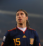 25.06.2010, Loftus Versfeld Stadium, Tshwane Pretoria, RSA, FIFA WM 2010, Chile (CHI) vs Spain (ESP)., im Bild Sergio Ramos of Spain.  Foto: nph /    Marc Atkins