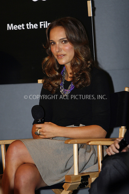 WWW.ACEPIXS.COM . . . . .  ....April 24 2009, New York City....Actress Natalie Portman mad an appearance at the Apple Store in Soho on April 24, 2009 in New York City.....Please byline: NANCY RIVERA- ACE PICTURES.... *** ***..Ace Pictures, Inc:  ..tel: (212) 243 8787 or (646) 769 0430..e-mail: info@acepixs.com..web: http://www.acepixs.com