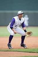 Winston-Salem Dash third baseman Brady Conlan (9) on defense against the Potomac Nationals at BB&T Ballpark on August 6, 2017 in Winston-Salem, North Carolina.  The Nationals defeated the Dash 4-3 in 10 innings.  (Brian Westerholt/Four Seam Images)