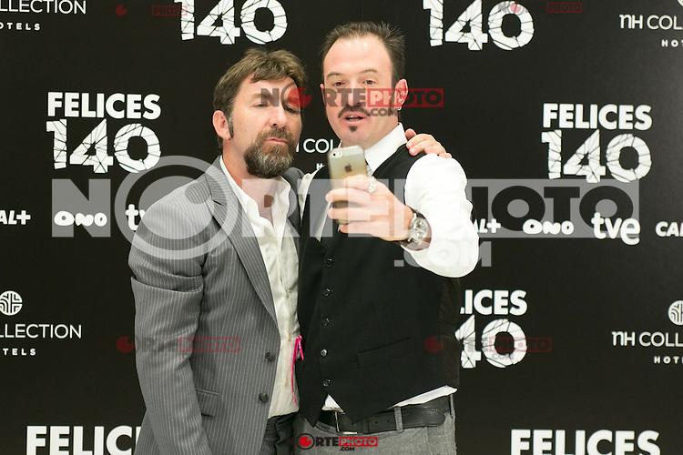 """Antonio de la Torre and Alex Odogherty attend the Presentation of """"Happy 140"""" (Felices 140) Movie at Eurobuilding Hotel, Madrid,  Spain. April 07, 2015.(ALTERPHOTOS/)Carlos Dafonte) /NORTEphoto.com"""