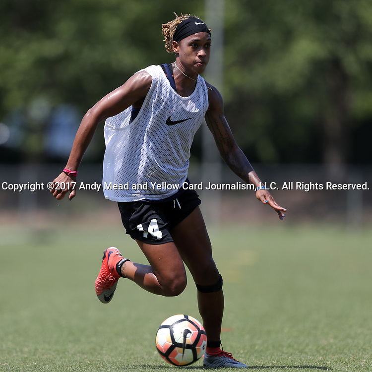 CARY, NC - MAY 10: Jessica McDonald. The North Carolina Courage held a training session on May 10, 2017, at WakeMed Soccer Park Field 7 in Cary, NC.