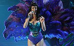 Katy Perry performs at the Bridgestone Arena on Fridday, August 19, 2011. (Photo by Frederick Breedon)