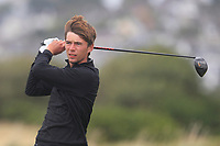 Bailey Gill from England on the 5th tee during Round 3 Foursomes of the Men's Home Internationals 2018 at Conwy Golf Club, Conwy, Wales on Friday 14th September 2018.<br /> Picture: Thos Caffrey / Golffile<br /> <br /> All photo usage must carry mandatory copyright credit (&copy; Golffile | Thos Caffrey)