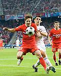 Ivan Saenko and Kostas Katsouranis at Euro 2008, RUS-GRE, 06142008, Salzburg, Austria