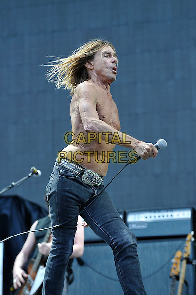 MILTON KEYNES, ENGLAND - SEPTEMBER 6: Iggy Pop(James Newell Osterberg, Jr)performing at Milton Keynes Bowl on September 6, 2015 in Milton Keynes, England.<br /> CAP/MAR<br /> &copy; Martin Harris/Capital Pictures
