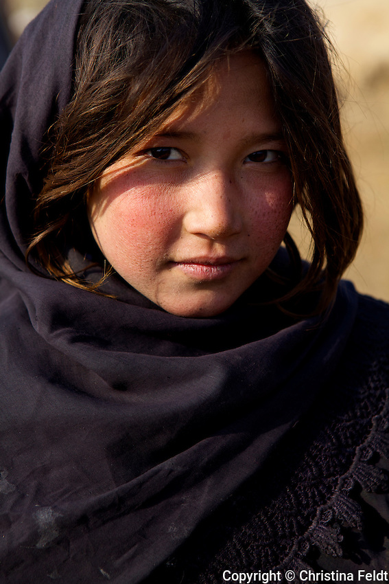 Young girl of Qalin Bafan Returnee Site.
