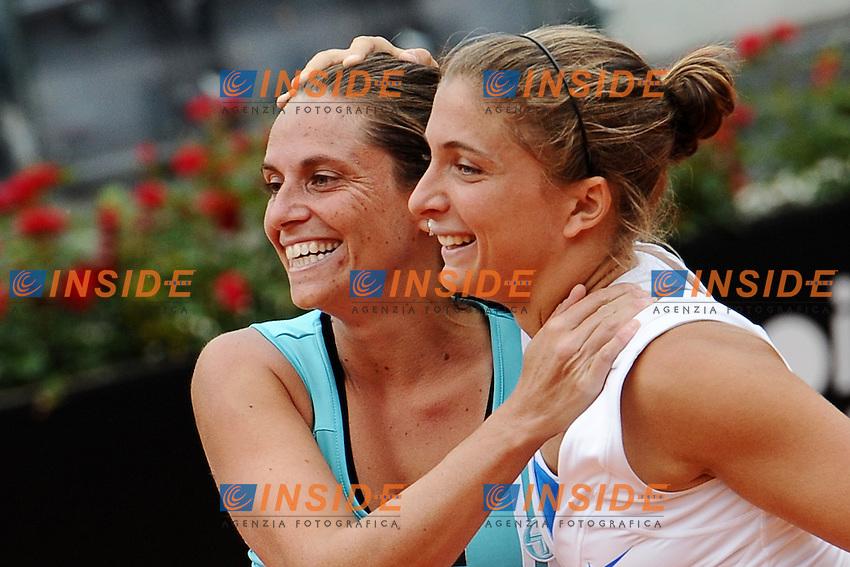Sara Errani e Roberta Vinci vincono il doppio femminile degli internazionali di Tennis d'Italia..Roma 20/05/2012 Foro Italico.Tennis Internazionali d'Italia.Foto Insidefoto Antonietta Baldassarre