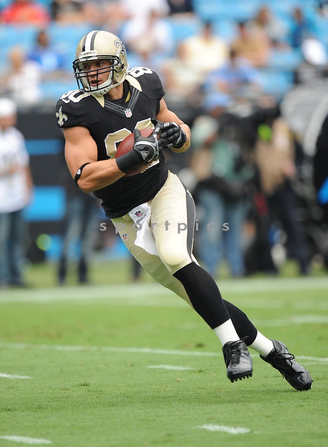 New Orleans Saints Jimmy Graham (80) in action during a game against the Carolina Panthers on September 16, 2012 at Bank of America Stadium in Charlotte, NC. The Panthers beat the Saints 35-27.