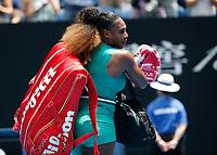 15th January 2019, Melbourne Park, Melbourne, Australia; Australian Open Tennis, day 2; Serena Williams of USA