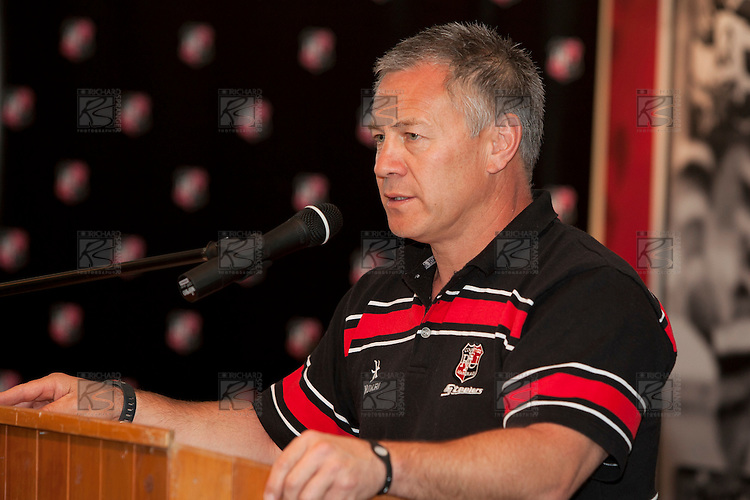 Steelers Coach Milton Haig addresses the audience at the Counties Manukau Representative Teams prize givung held at Bayer Growers Stadium on Thursday October 28th 2010.