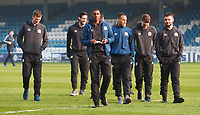 Blackburn Rovers arrive at Gillingham FC<br /> <br /> Photographer Rachel Holborn/CameraSport<br /> <br /> The EFL Sky Bet League One - Gillingham v Blackburn Rovers - Tuesday 10th April 2018 - Priestfield Stadium - Gillingham<br /> <br /> World Copyright &copy; 2018 CameraSport. All rights reserved. 43 Linden Ave. Countesthorpe. Leicester. England. LE8 5PG - Tel: +44 (0) 116 277 4147 - admin@camerasport.com - www.camerasport.com