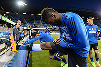 San Jose, CA - Saturday, March 04, 2017: Shaun Francis prior to a Major League Soccer (MLS) match between the San Jose Earthquakes and the Montreal Impact at Avaya Stadium.