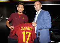 New AS Roma Player Cengiz Under, Monchi Sport Director AS Roma <br /> Roma 04-08-2017 <br /> Press Conference <br /> Foto Gino Mancini/Insidefoto