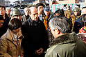 U.S. ambassador to Japan, John V. Roos speaks with Japanese locals March 23 while touring an internal displacement camp. The U.S. government is able to coordinate government of Japan requests and rapidly respond with critically needed capabilities and supplies in times of crises because of the long standing and close working relationship with Japanese counterparts. (Photo by USMC/AFLO) [0006]