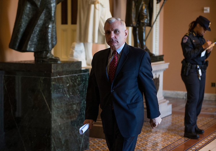 UNITED STATES - MAY 14: Sen. Jack Reed, D-R.I., walks to the Senate floor following the weekly policy luncheons on Tuesday, May 14, 2013 . (Photo By Bill Clark/CQ Roll Call)