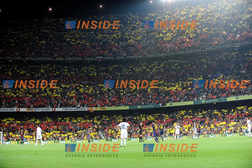 Ambiance au stade Camp nou   .Barcellona 7/10/2012 Camp Nou.Football Calcio 2012/2013 Liga.Barcellona Real Madrid.Foto Insidefoto / Panoramic.ITALY ONLY