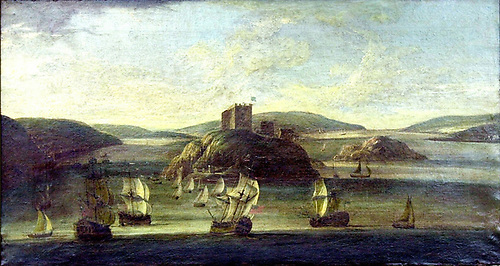 Willem van der Hagen's 1736 painting of Cork Harbour