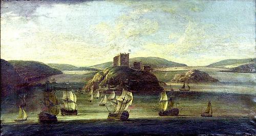 Willem van der Hagen's 1736 painting of Cork Harbour