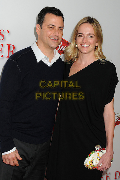 Jimmy Kimmel &amp; Molly McNearney<br /> &quot;Lee Daniels' The Butler&quot; Los Angeles Premiere held at Regal Cinemas L.A. Live, Los Angeles, California, USA.<br /> August 12th, 2013<br /> half length dress married husband wife black white shirt collar <br /> CAP/ADM/BP<br /> &copy;Byron Purvis/AdMedia/Capital Pictures