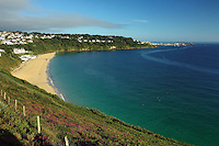 Looking to St Ives from Carbis Bay, Cornwall