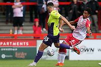 Tom Parkes of Exeter City and Kurtis Guthrie of Stevenage during Stevenage vs Exeter City, Sky Bet EFL League 2 Football at the Lamex Stadium on 10th August 2019