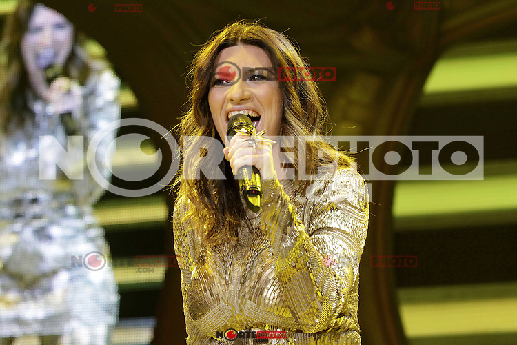 Singer Laura Pausini during a concert of the Inedito World Tour at the O2 World, Berlin, Germany, 08.05.2012...Credit: Scherf/face to face /MediaPunch Inc. ***FOR USA ONLY***