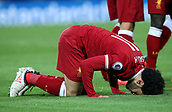 17th March 2018, Anfield, Liverpool, England; EPL Premier League football, Liverpool versus Watford;  Mohammed Salah of Liverpool celebrates his second goal of the match which gives his side a 2-0 lead