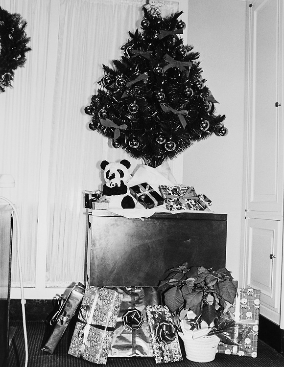 Decorated office of Rep. Carlos Moorhead, R-Calif., with Christmas tree and gifts around Christmas. (Photo by CQ Roll Call via Getty Images)