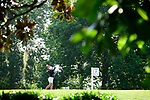 HOUSTON, TX - MAY 19: Samantha Martinez California Baptist tees off during the Division II Women's Golf Championship held at Bay Oaks Country Club on May 19, 2018 in Houston, Texas. (Photo by Justin Tafoya/NCAA Photos via Getty Images)
